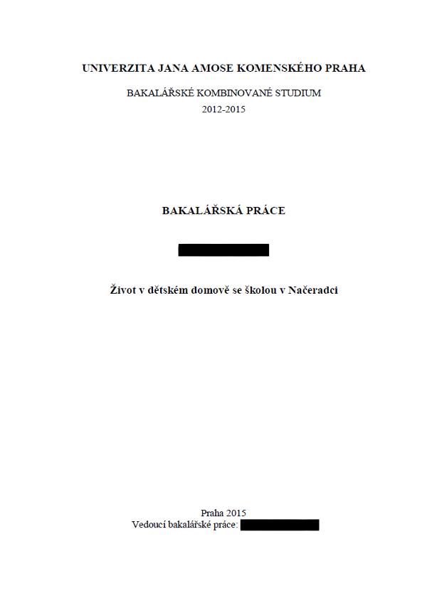 Bakalářské zapojení 2015