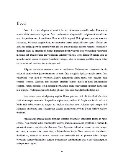 1e85da748 Úvod bakalářské práce (rady, tipy, návod) | Formatovani-dokumentu.cz